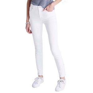 "Madewell 9"" High Rise Pure White Skinny Jeans 30"